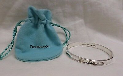 Authentic Tiffany & Co 1837 Sterling Silver Bangle Bracelet