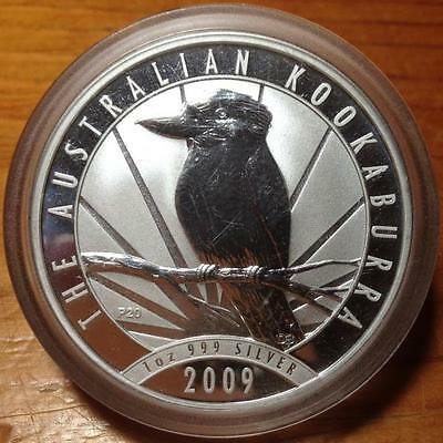 2009 $1 Kookaburra 1 Oz Silver  Bullion Coin In Capsule.
