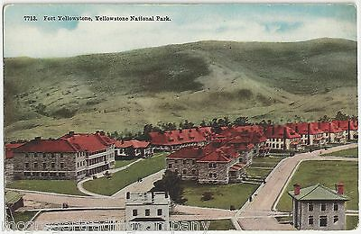 Fort Yellowstone, Yellowstone National Park Wyoming WY Vintage Unposted Postcard