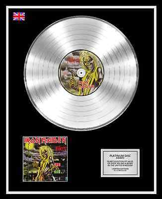 IRON MAIDEN Ltd Edition CD Platinum Disc Record KILLERS