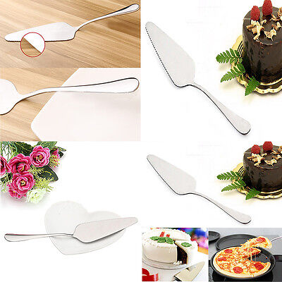 Stainless Steel Toothed Pizza Pie Cake Server Slice Cutter Serving Cutlery Tool