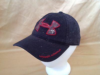Under Armour Black Red Camo Camoflage Baseball Adjustable Cap Hat