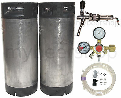 PRO BALL LOCK KEG KIT with ENTRY LEVEL REGULATOR HOME BREW BEER SYSTEM KEGGING
