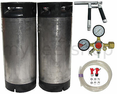 PLUTO BALL LOCK KEG KIT with ENTRY LEVEL REGULATOR HOME BREW BEER SYSTEM KEGGING