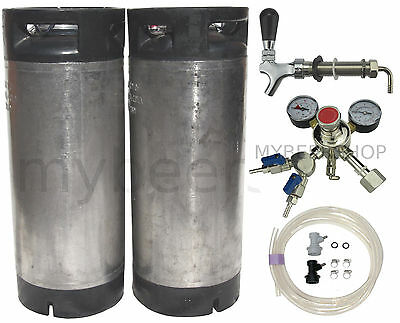 XPERT BALL LOCK KEG KIT with PREMIUM REGULATOR HOME BREW BEER SYSTEM KEGGING DIY