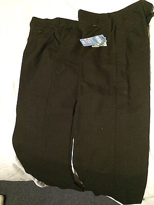 Two Pairs Boys School Trousers Age 12