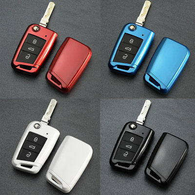 Portable Car Plastic Key Protective Cover For Volkswagen Golf 7 Easy Carry NS