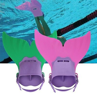 Swimming Costume Kids Swimmable Monofin Mermaid tail Mono Fin Flippers NS