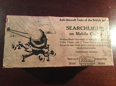 Britains Searchlight On Axle With Box Genuine Vintage
