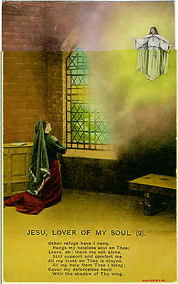 Bamforth Song Card-Jesu Lover of my Soul (Series4506/2) V.G.Condition