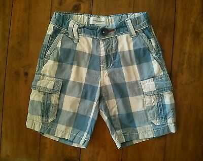 Country Road boys blue/white check shorts size 3