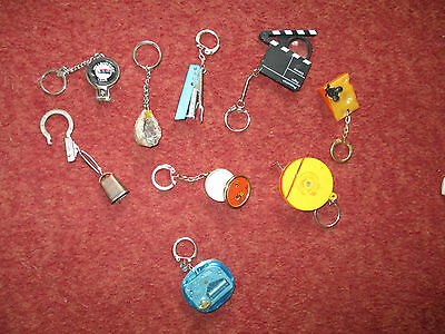 joblot 9 old keyrings please see listing