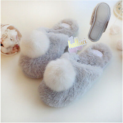 Winter Soft cute Warm Bunny Indoor Anti-slip Slippers Shoes for Women Ladies