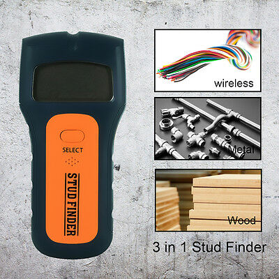 3in1 Intelligent Stud Scanner AC Live Wire Finder Wood Metal Detector Wall Studs