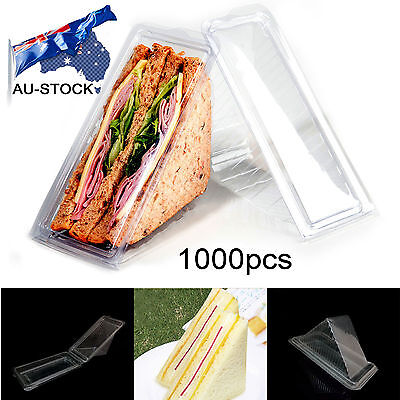 AU-STOCK 1000PCS Heathy Practical Home Plastic Sandwich Container Triangle Wedge