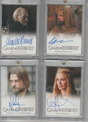 Game Of Thrones Season 2 Auto Charles Dance Full Bleed Autograph