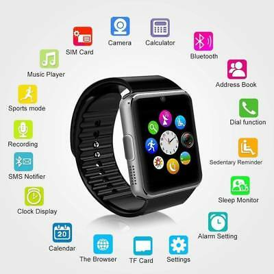 2016 GT08 Touch Screen Bluetooth Smart Wrist Watch Phn Mate For Android & IOS-B