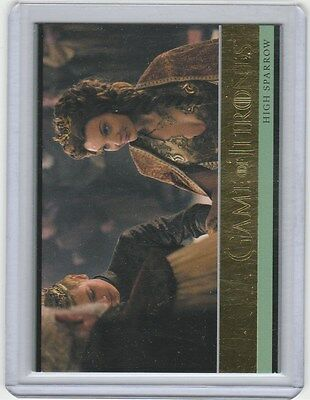 GAME OF THRONES SEASON 5 GOLD BASE CARD 7 high sparrow 144/150