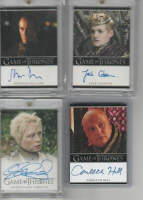 Game Of Thrones Season 3 Auto Jack Gleeson Bordered Autograph