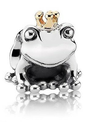 Pandora Silver And Gold Frog Crown Charm
