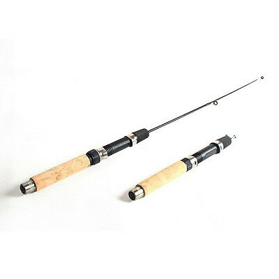 0.65M Telescopic Carbon Superhard Ice Fishing Rod Pole Tackle Outdoor Durable