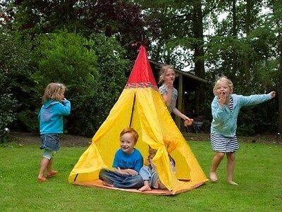 Kids Yellow Native Indian Design Tepee Tent Quick and Easy To Put Up Lightweight