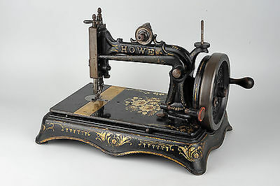 Elias Howe Lock Stitch Sewing Machine - Gold Gilt Decoration - Circa 1870