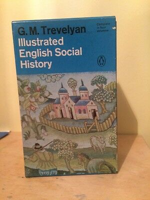 Illustrated English Social History By G.M Travelyan  Complete 4 Volumes