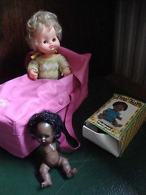 VINTAGE  SMALL BABY DOLLWITH CARRIE CASE 1950s