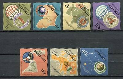 29629) BURUNDI 1965 MNH** Nuovi** Int. Cooperation - Space 7v
