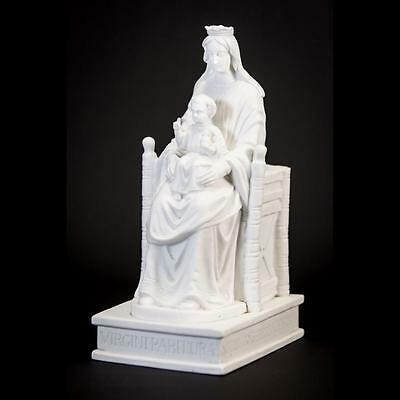 RARE Antique Our Lady of Chartres the Underground Parian Statue Madonna w Child