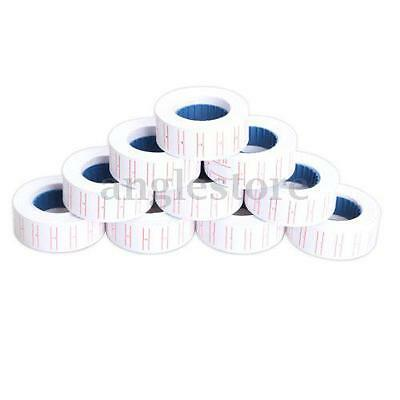 10x Rolls Single Line Price Label Tag Mark for MX-5500 Price Gun Labeller New