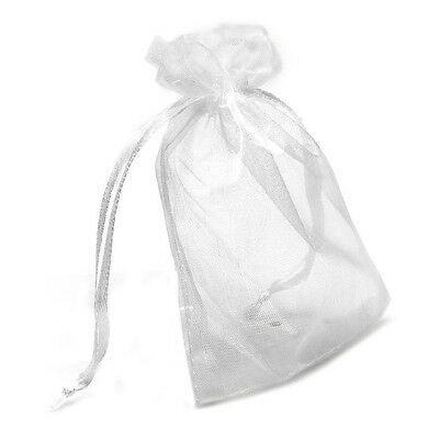 24pcs Wedding Party Favor Baby Shower Candies Gift Bag White Gauze T8