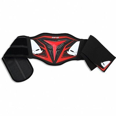 UFO Youth Demon Body Kidney Belt Protector Motocross MX Enduro Red CI02357B