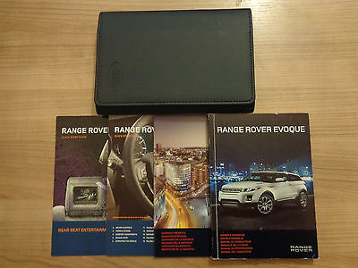 Range Rover Evoque Owners Handbook/Manual and Pack 11-16