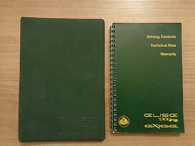 Lotus Elise111R/Exige Owners Handbook Manual and Wallet
