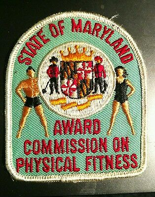 State Of Maryland Award Commission On Physical Fitness Patch