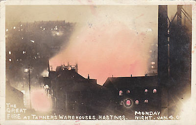 The Great Fire At Tapners Warehouse Monday 4th January 1909 Hastings Sussex