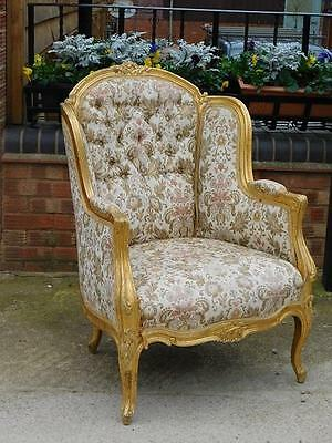 A GOOD 20thC FRENCH ANTIQUE GILT FAUTEUIL ARMCHAIR