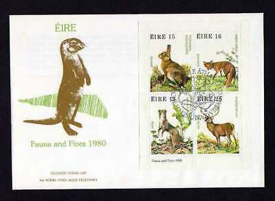 12898) IRELAND 1980 Flora and Fauna - Christmas FDC S/S