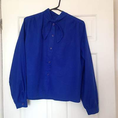 Vintage electric blue blouse size small