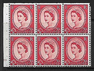 SB81 2½d Wilding Booklet pane Cyl J5 No Dot UNMOUNTED MINT