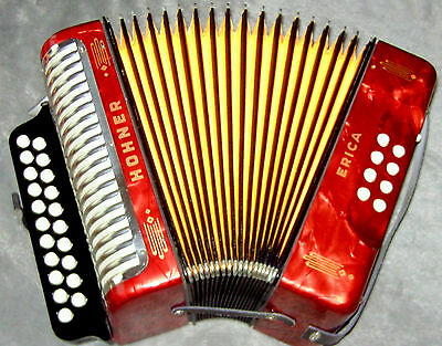 Vitage ! Sale ! Made In Germany ! Hohner G/c Erica Diatonic Button Accordion