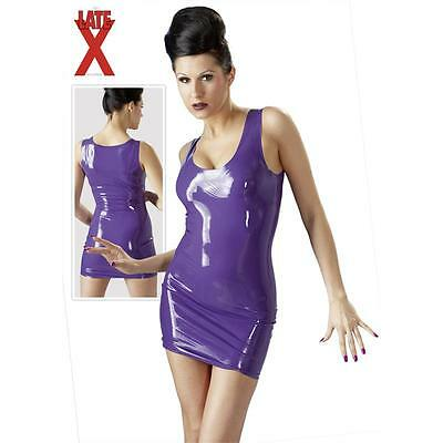 Minikleid  LATEX KLEID LILA L