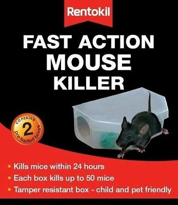 Rentokil Fast Action Mouse Killer Box Pack of 2 Pre-Baited PSF135