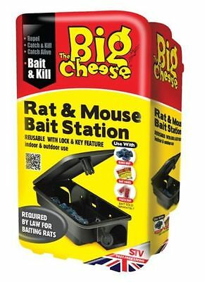 The Big Cheese Rat & Mouse Bait Station Helps Protect Children/Pets Easy To Use