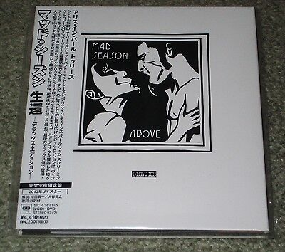 MAD SEASON Japan PROMO 2 x CD + DVD Above deluxe NEW Pearl Jam ALICE IN CHAINS