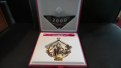 1999 Christmas Candles CHRISTMAS MOBILE 24 carat gold plated GEORG JENSEN. Box