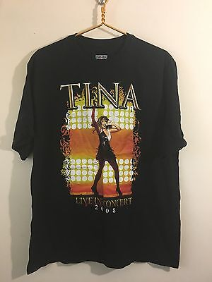 2008 Tina Turner Live In Concert Simply The Best Tina T-shirt Size L Large