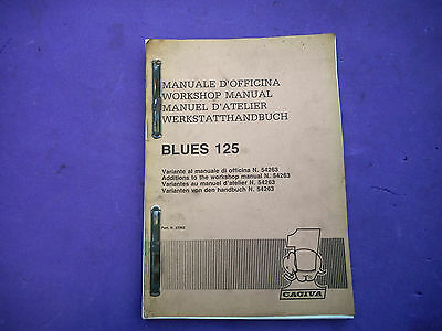 Genuine Cagiva Blues 125 Dealer Service Workshop Manual 57362